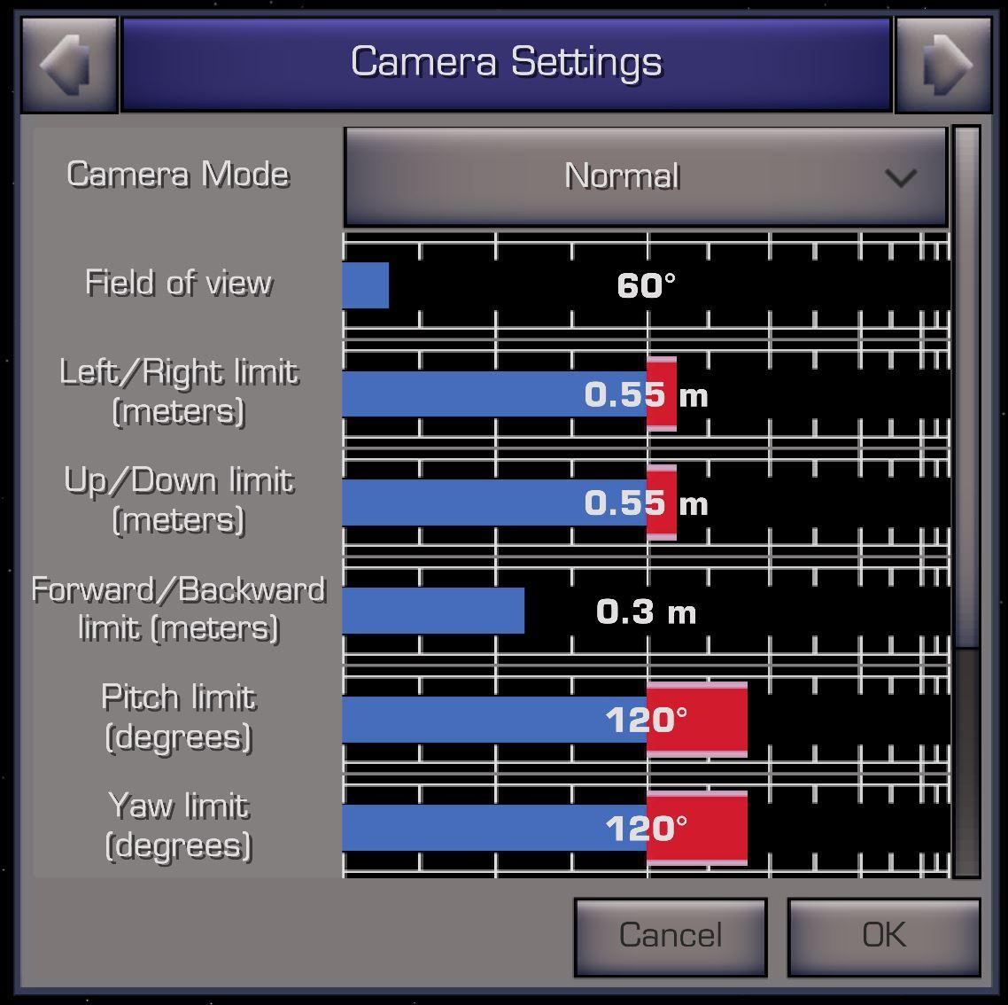 XWVM Camera Settings