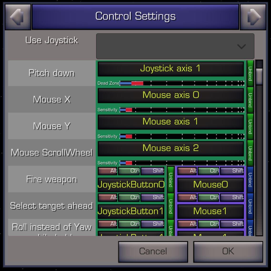 XWVM Control Settings