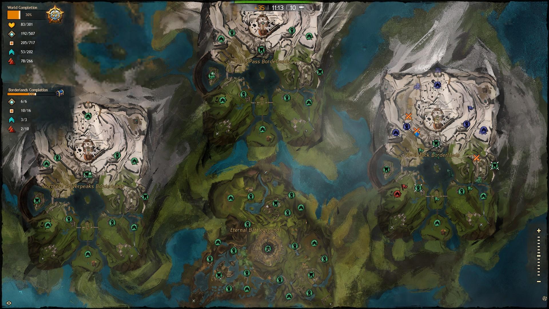 Guild Wars 1 World Map.Guild Wars 2 World Vs World Map Image Comradewinston Mod Db