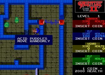 gauntlet II tutorial screen