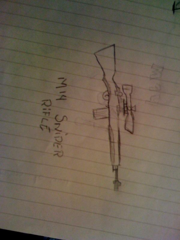 m14 sniper rifle. M14 Sniper Rifle Concept