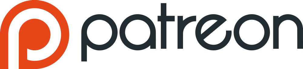 1000px Patreon logo with wordmar