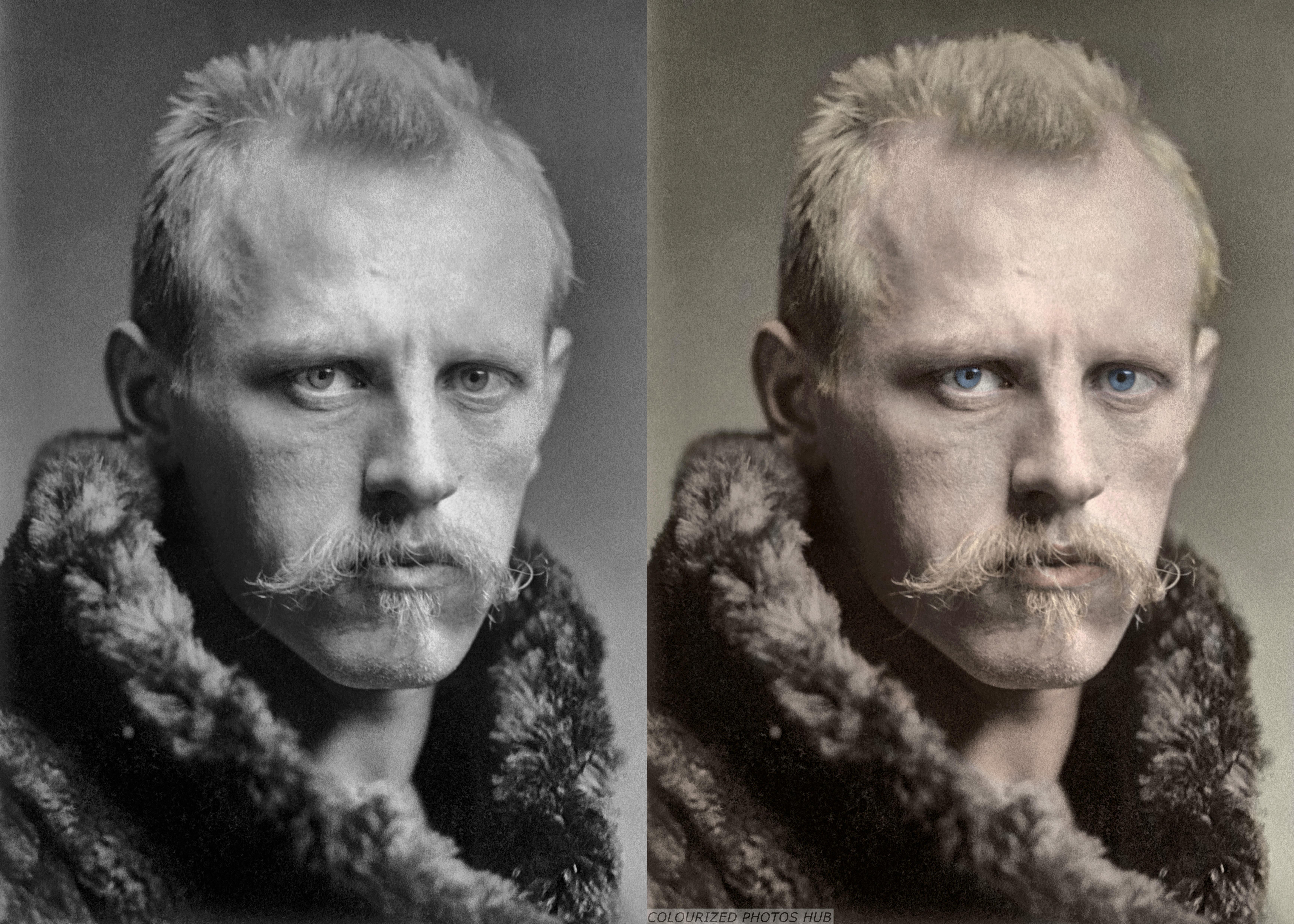 Как сделать цветной черно-белое фото