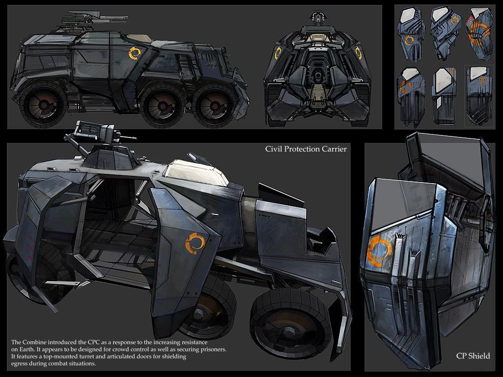 hl2 riot wagon riot shield2 by