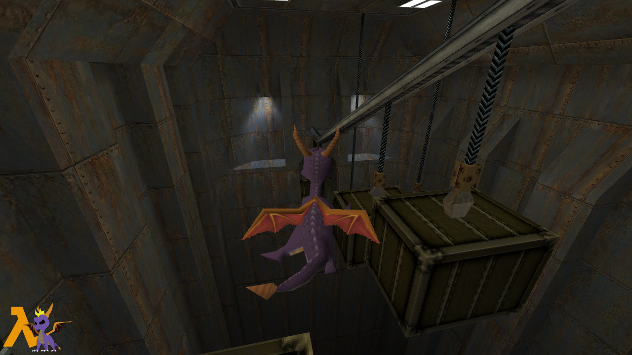 spyro box smashing room