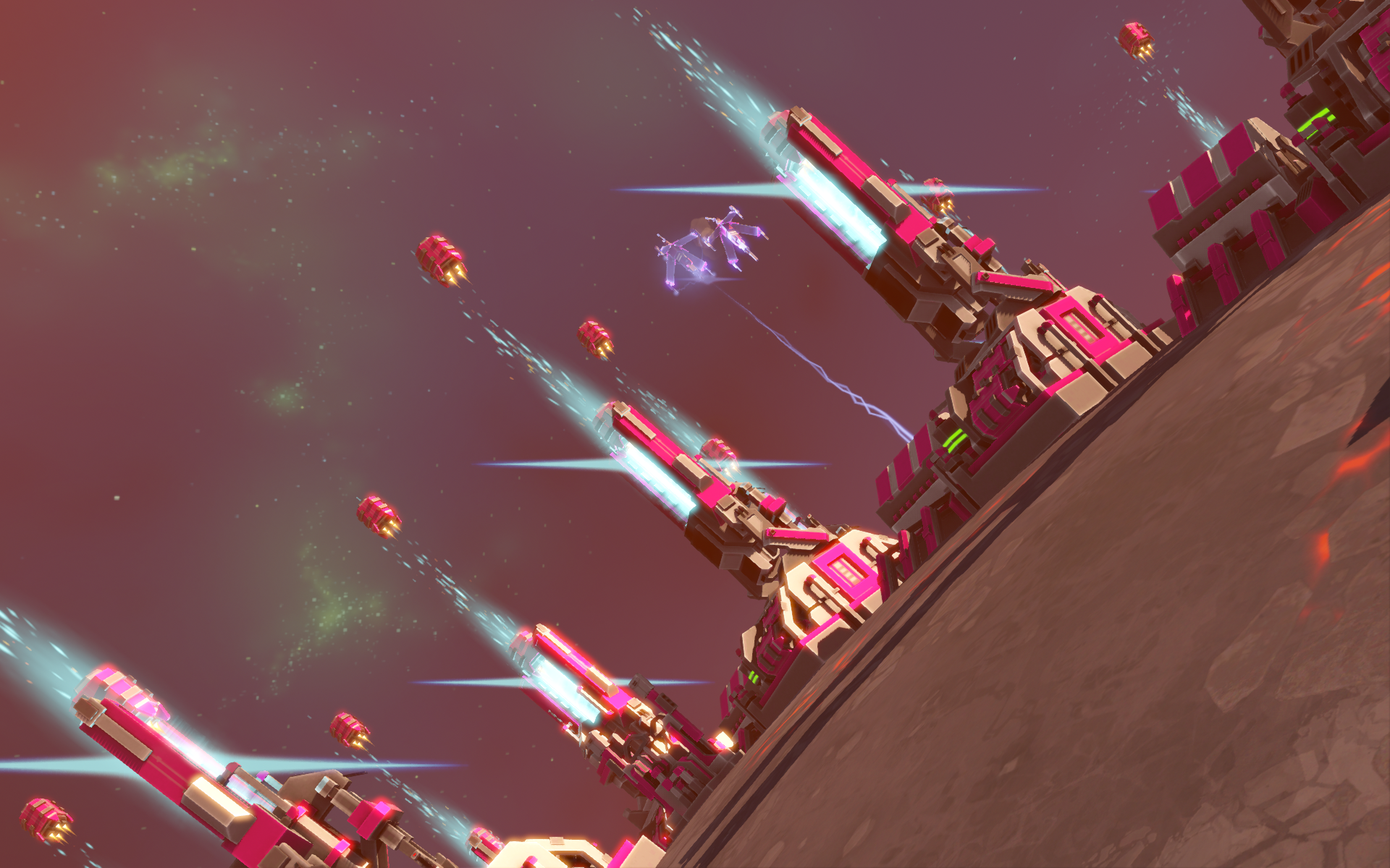 Queller AI Unit Cannons firing