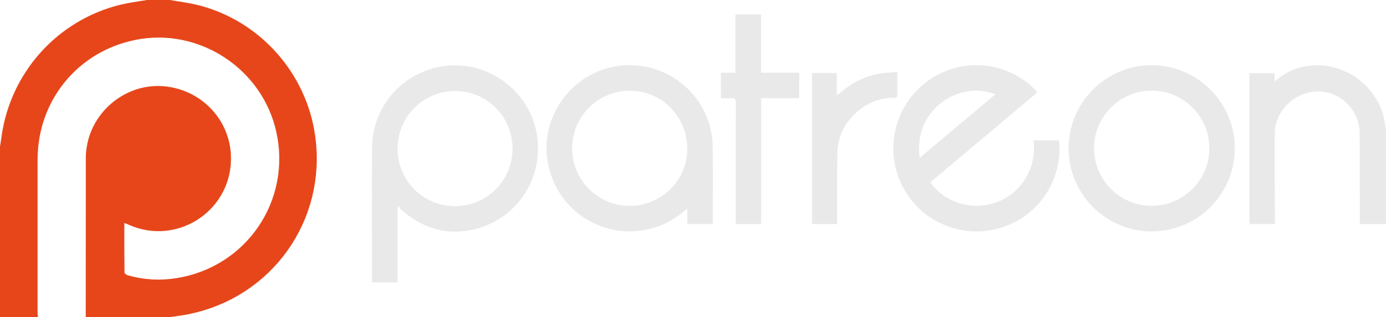 2000px Patreon logo with wordmar
