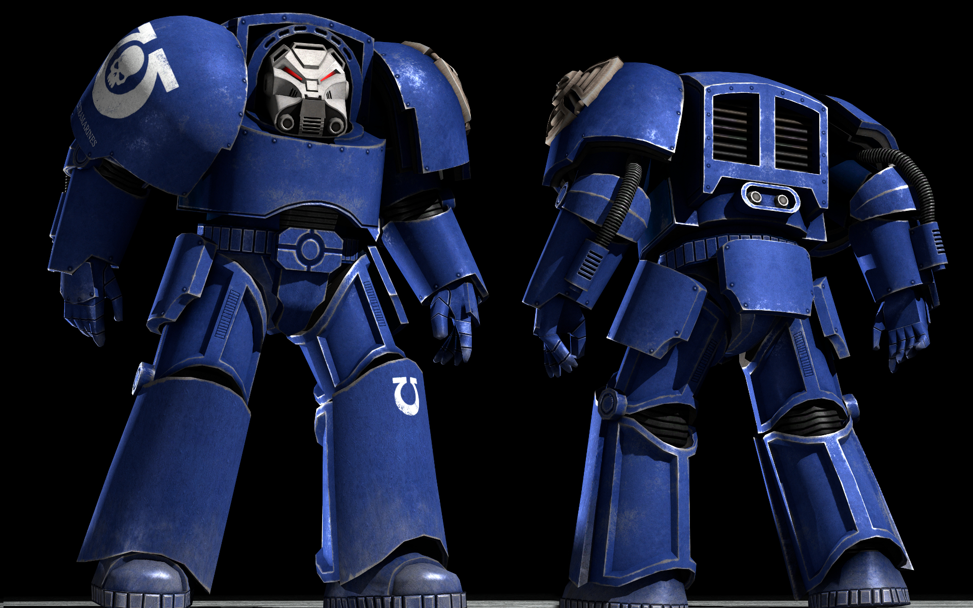 Ultramarine Terminator armour by Joazz