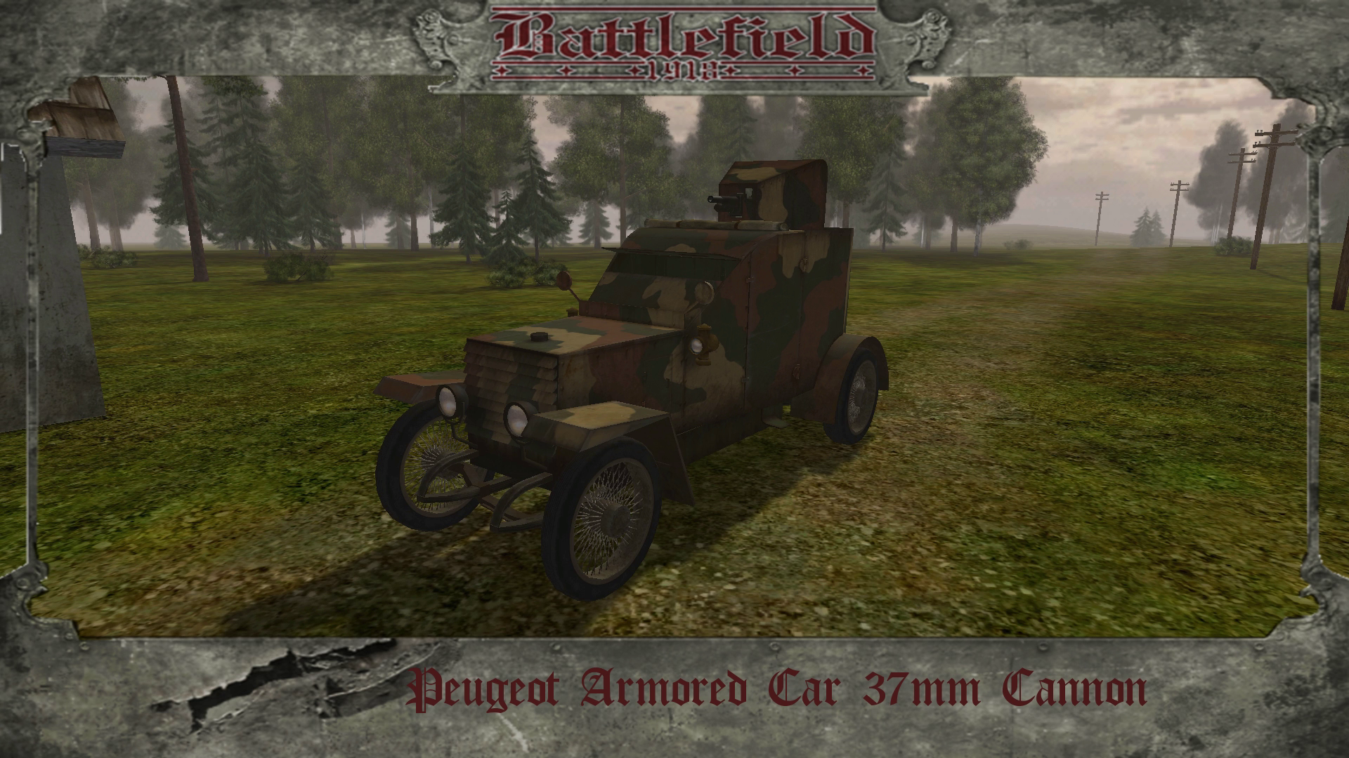 Peugeot Armored Car 37mm Cannon