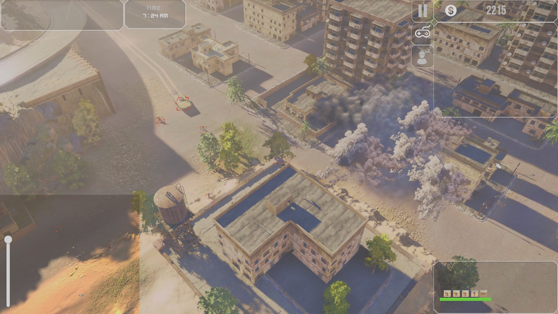 Cleaning the city from the insurgents to allow units to pass by.