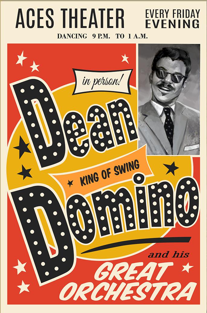 Dean Domino Poster