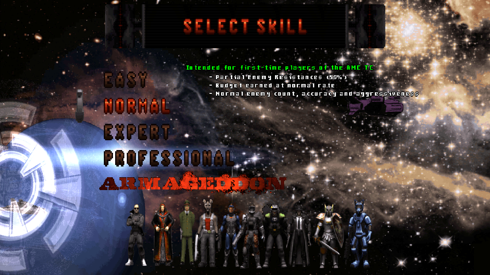 AMC difficulty selection