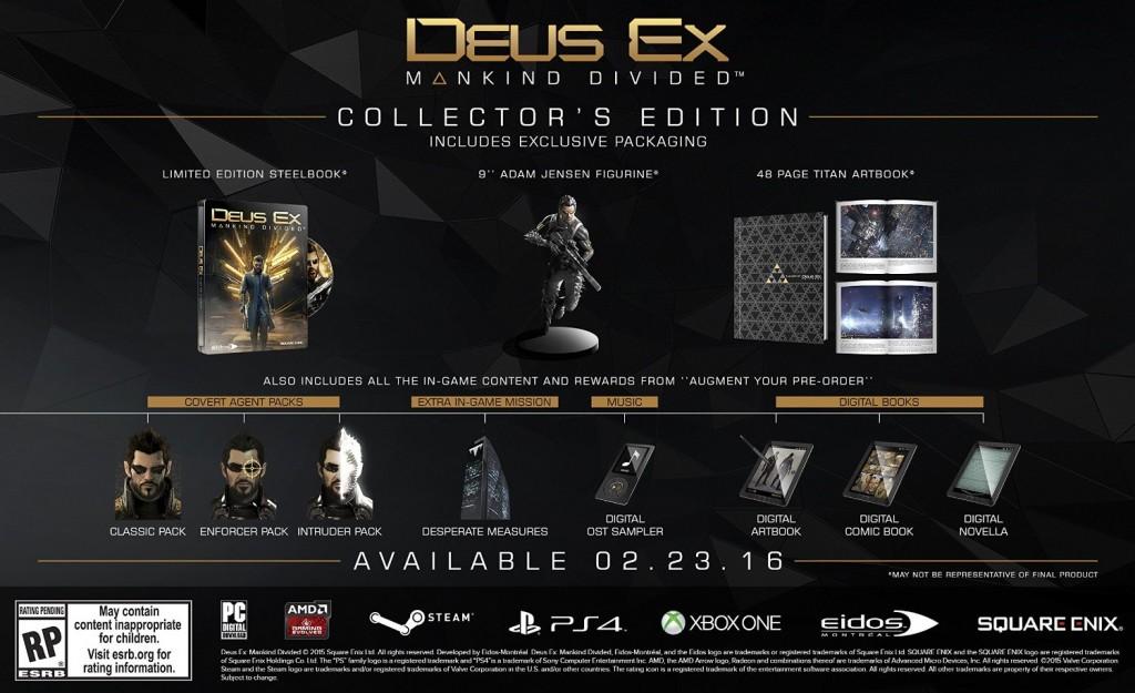 Deus Ex Mankind Divided Collecto