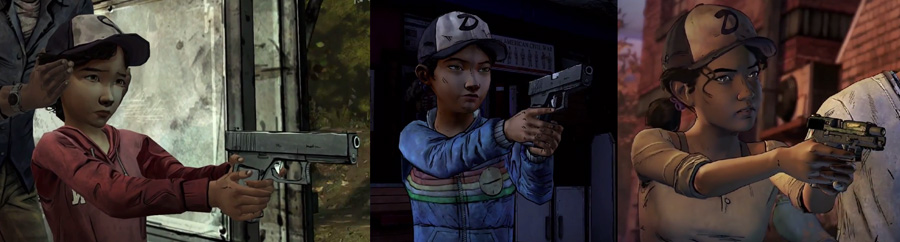 clementine evolution twd