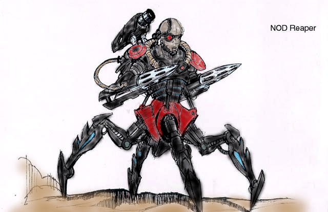 nod cyborg reaper in color by ca