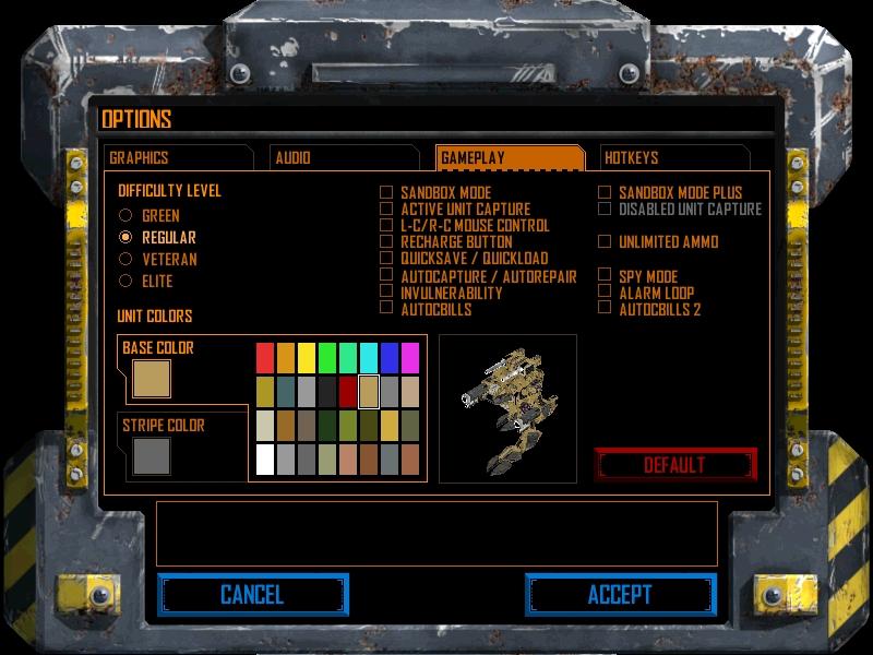 MC2X Game Options