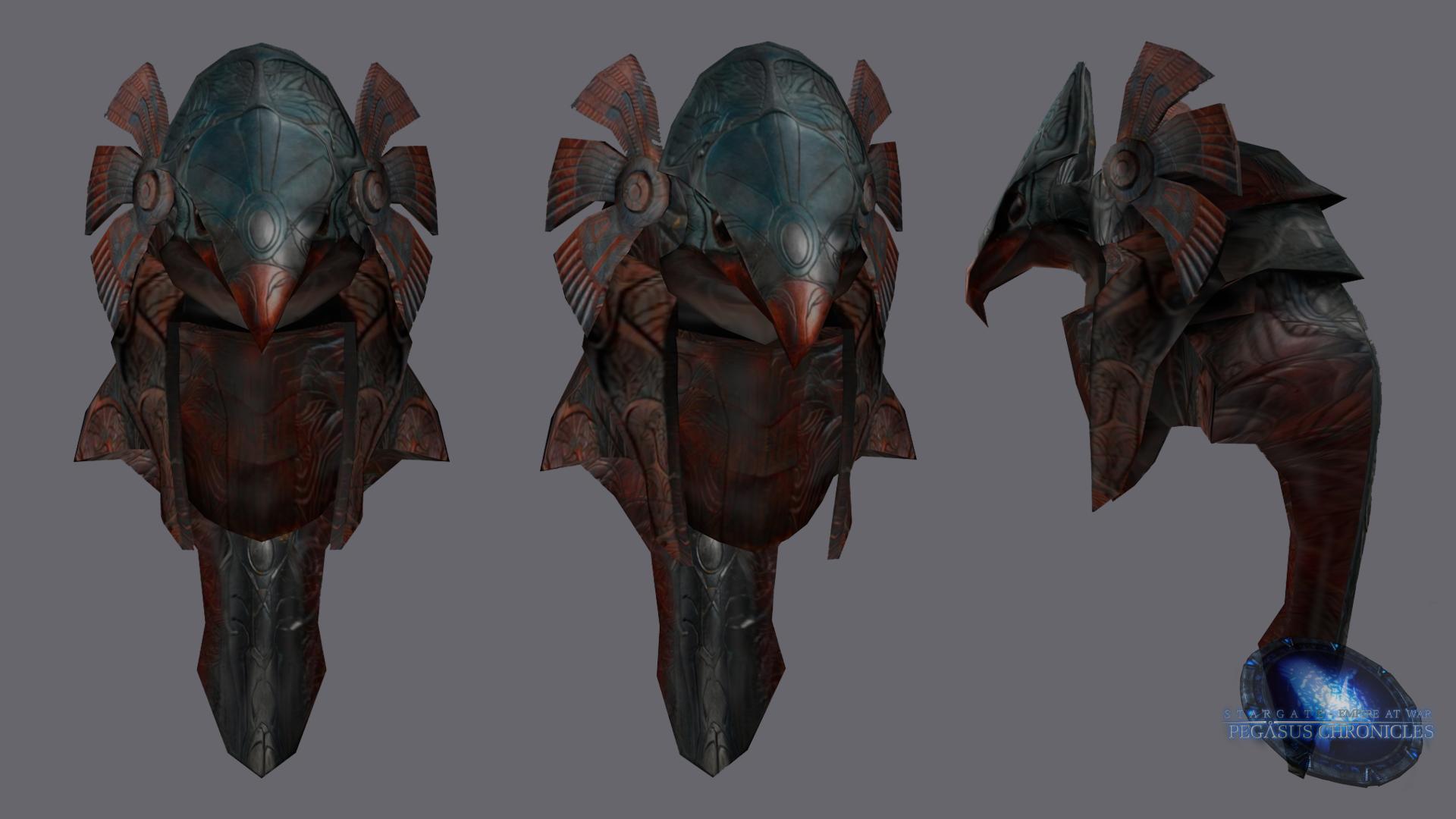 Horus Helmet Render