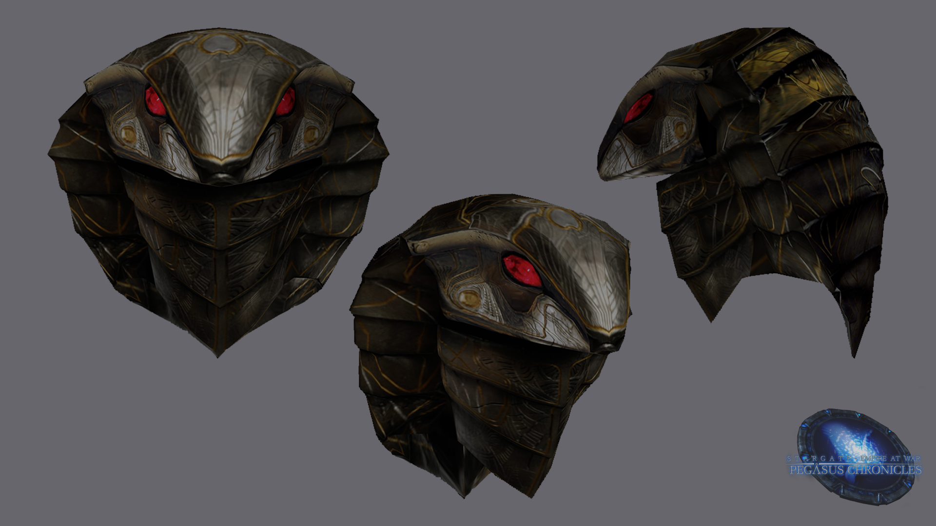 Serpent Helmet Render