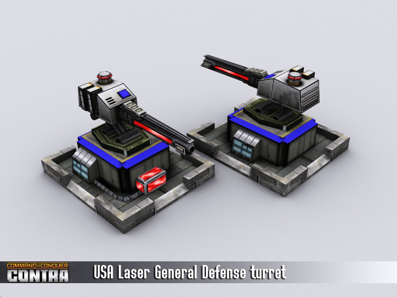 Laser defense turret