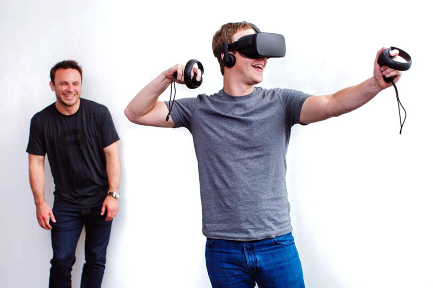 mark zuckerberg using oculus