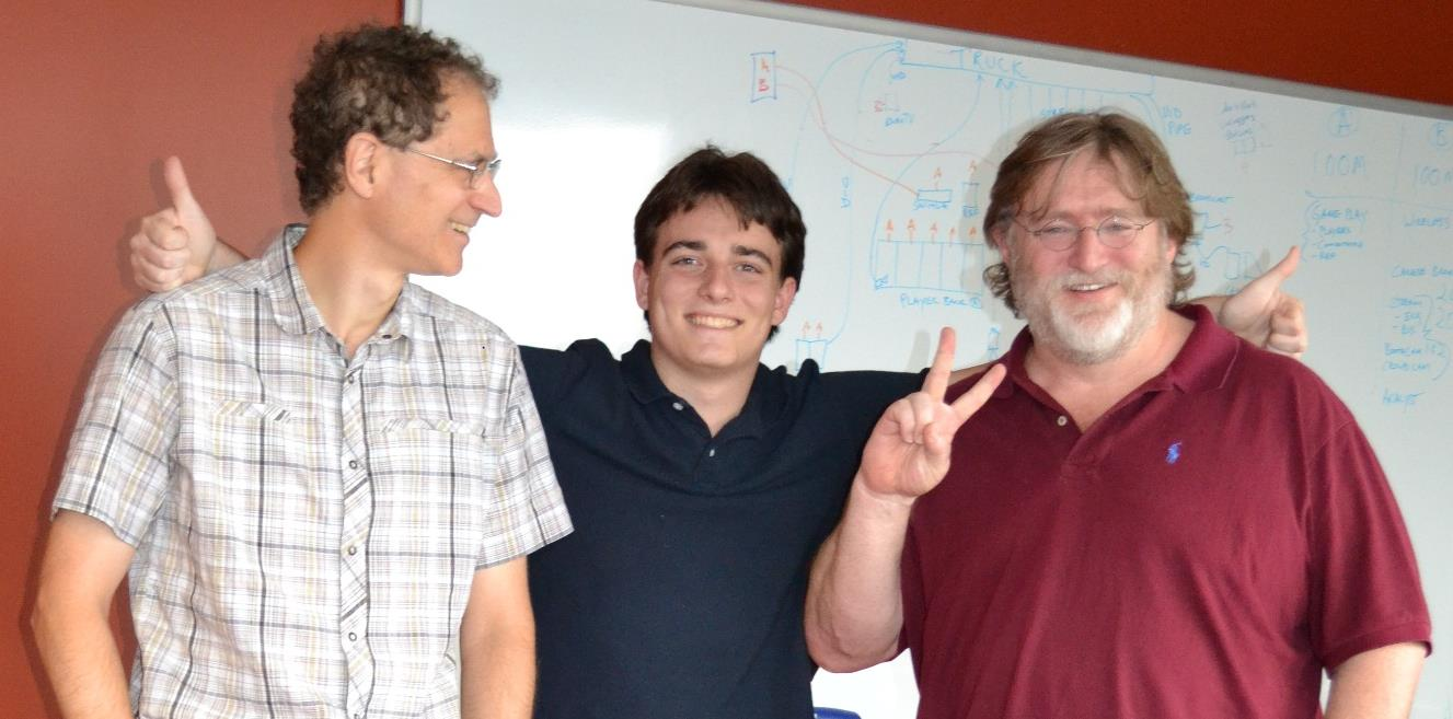 palmer luckey with gabe newell a 1