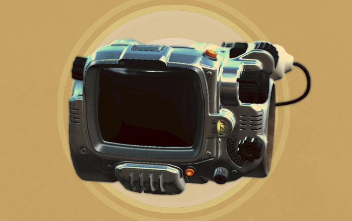 BGSFO4006 PipBoy Chrome