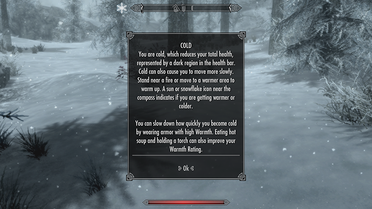 Skyrim Survival Cold
