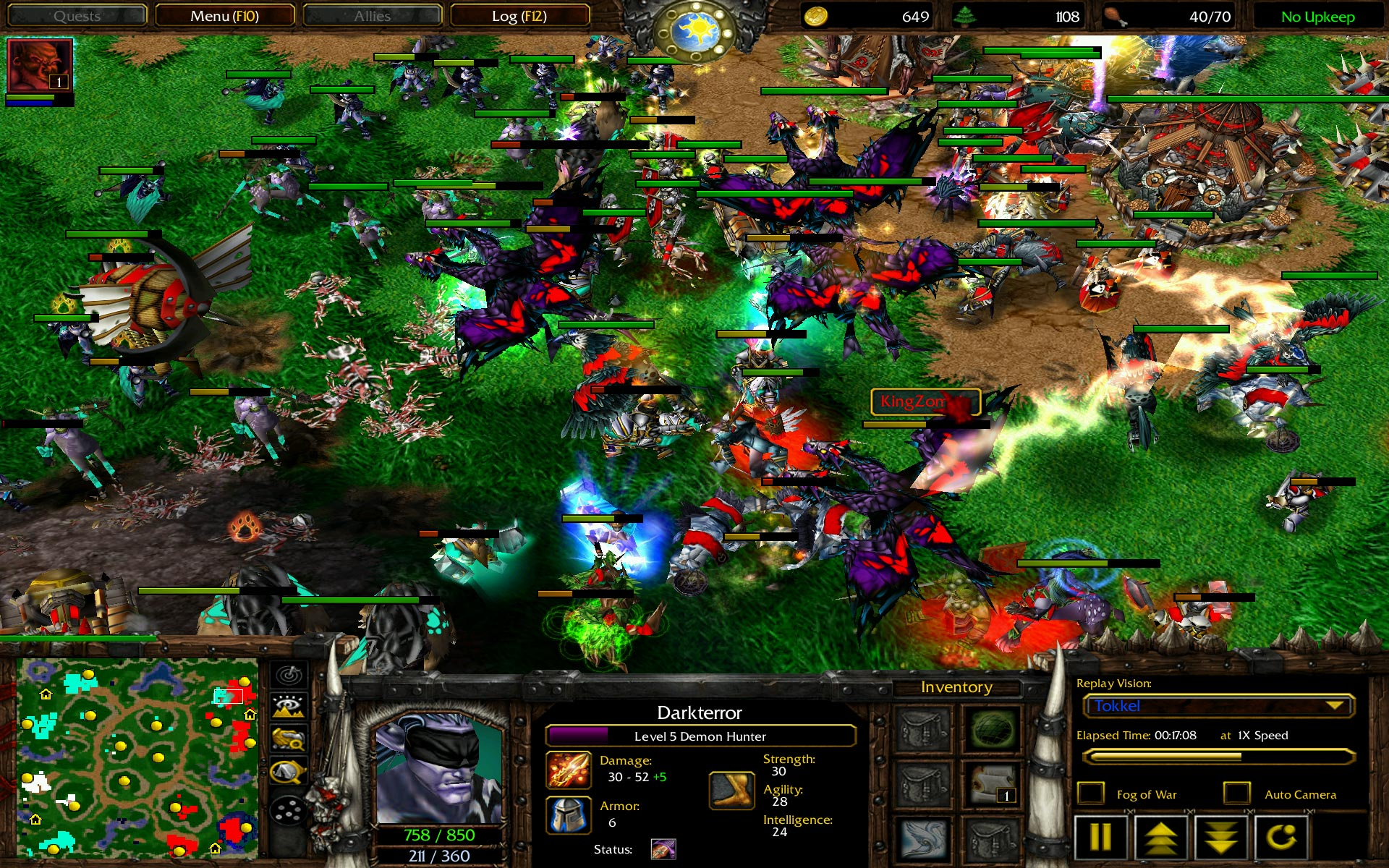 warcraft 3 4on4 random team clas