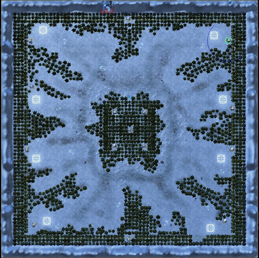 Plains of Snow map for 8 players