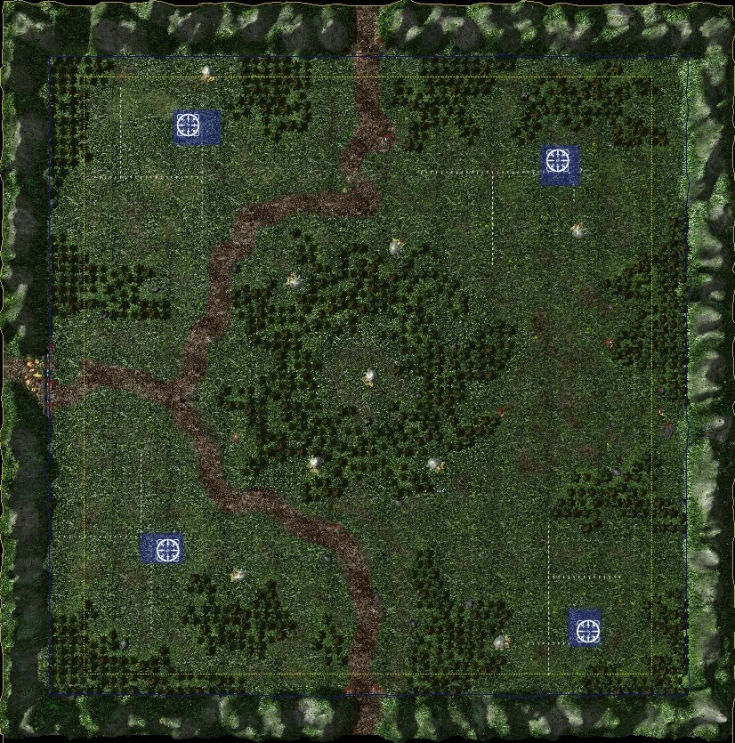 Whispering Forest 4 player map for Warcraft 1