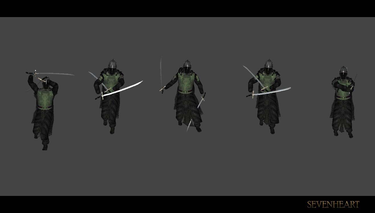 Dual-wielding animation tests
