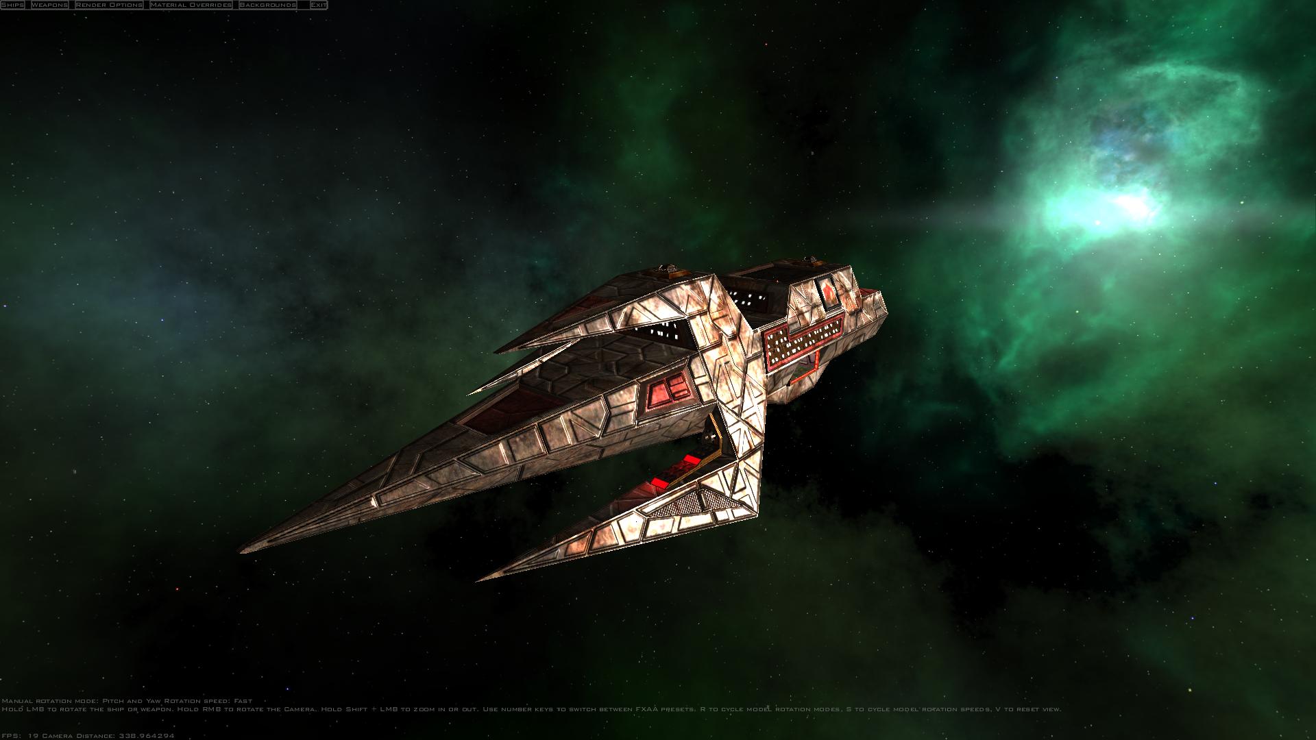 A Kilrathi cruiser