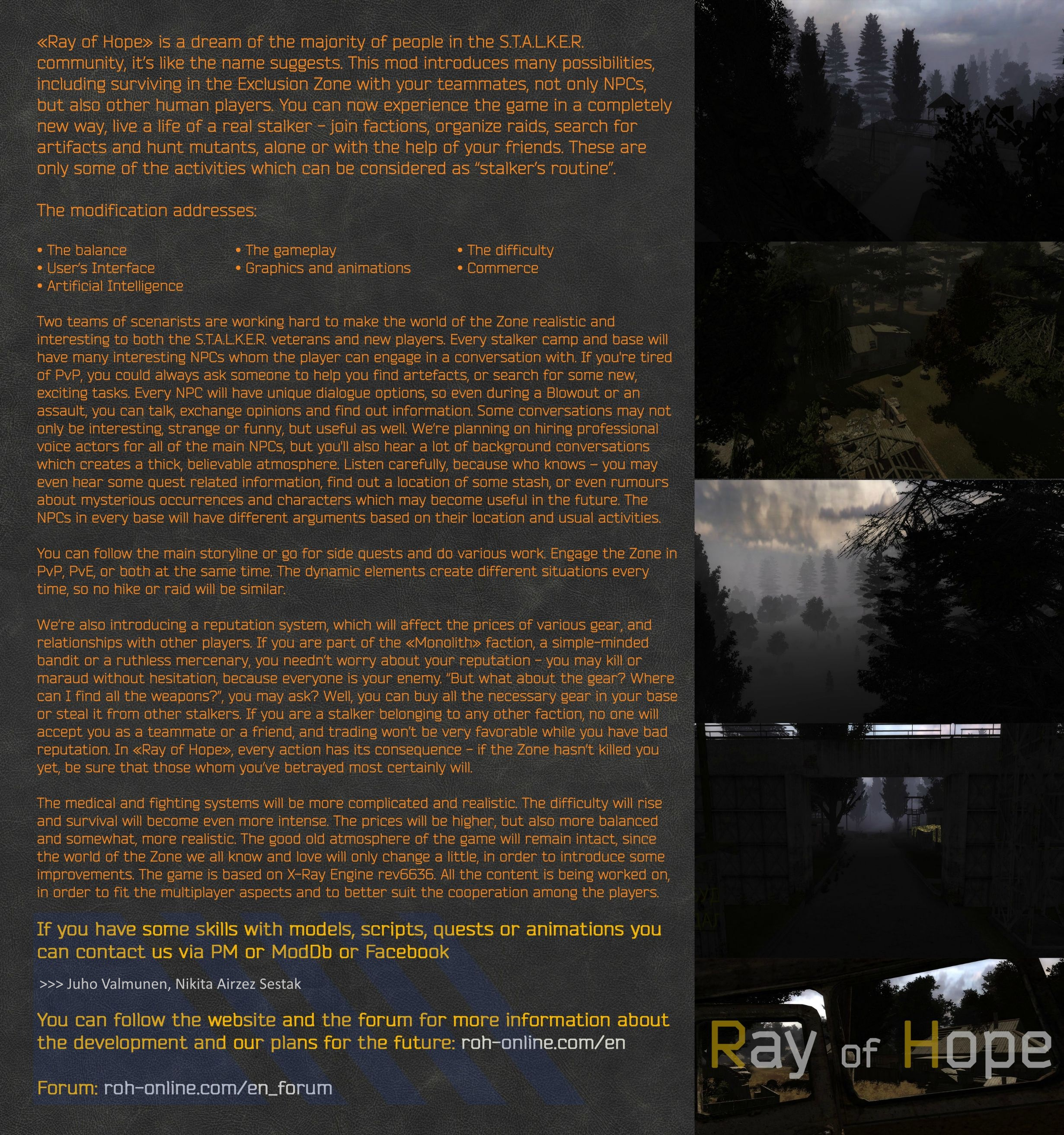 Ray of Hope mod for S T A L K E R : Call of Pripyat - Mod DB
