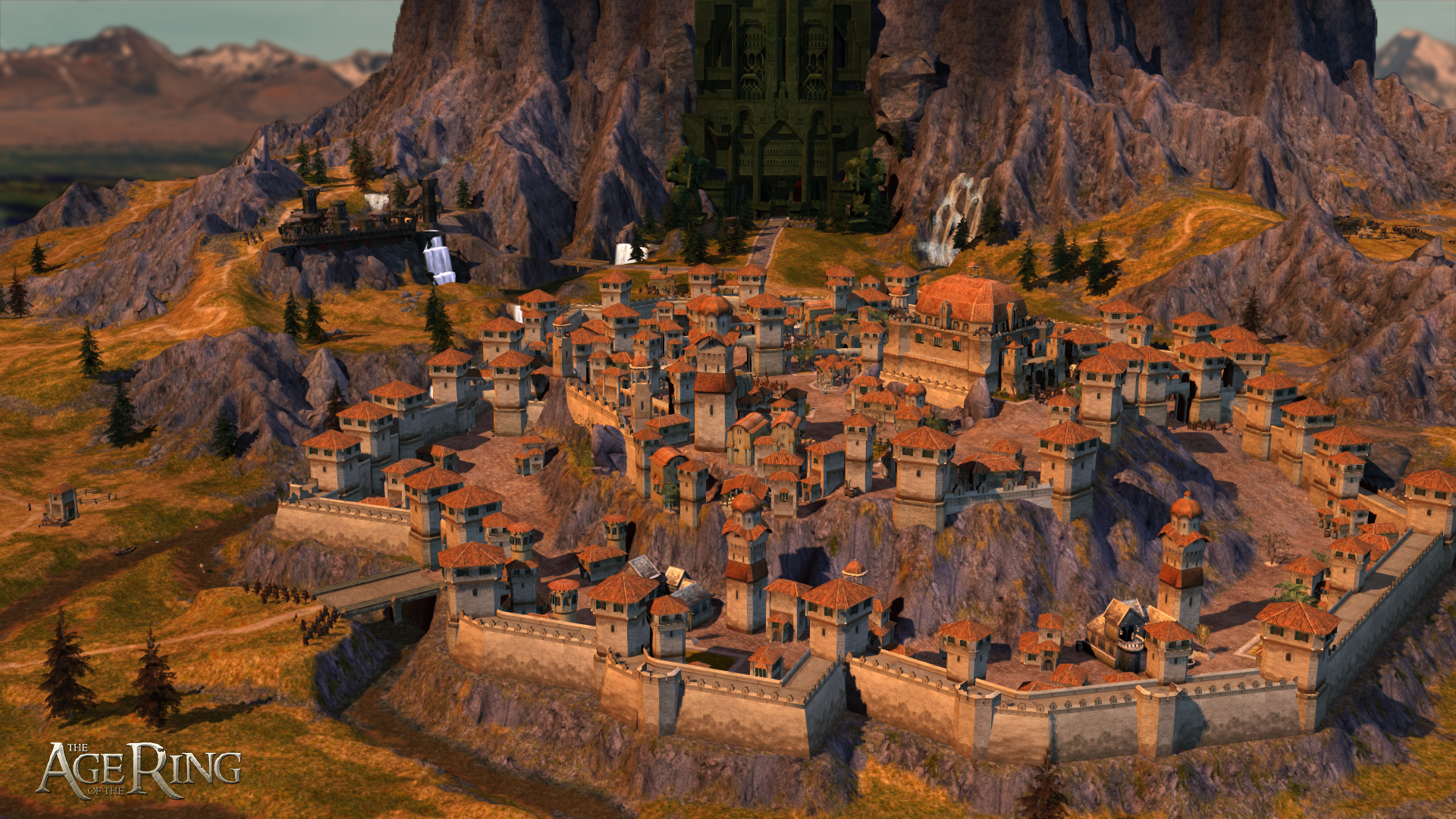city of Dale, with Erebor in background