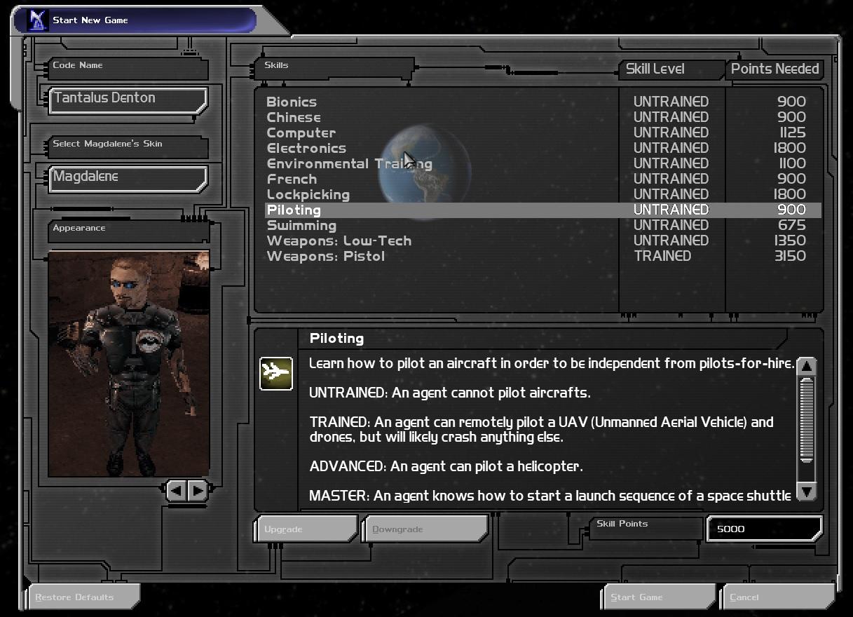 Deus Ex Skills mod AI