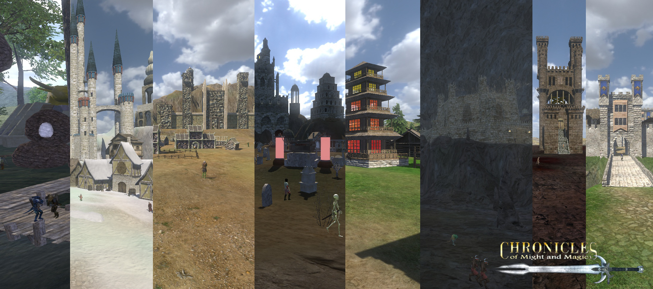 new scenes for all castles and towns