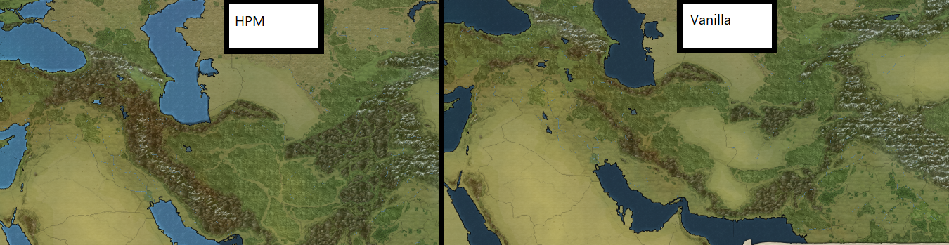 Middle East Terrain Map