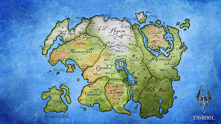 elder scrolls world map