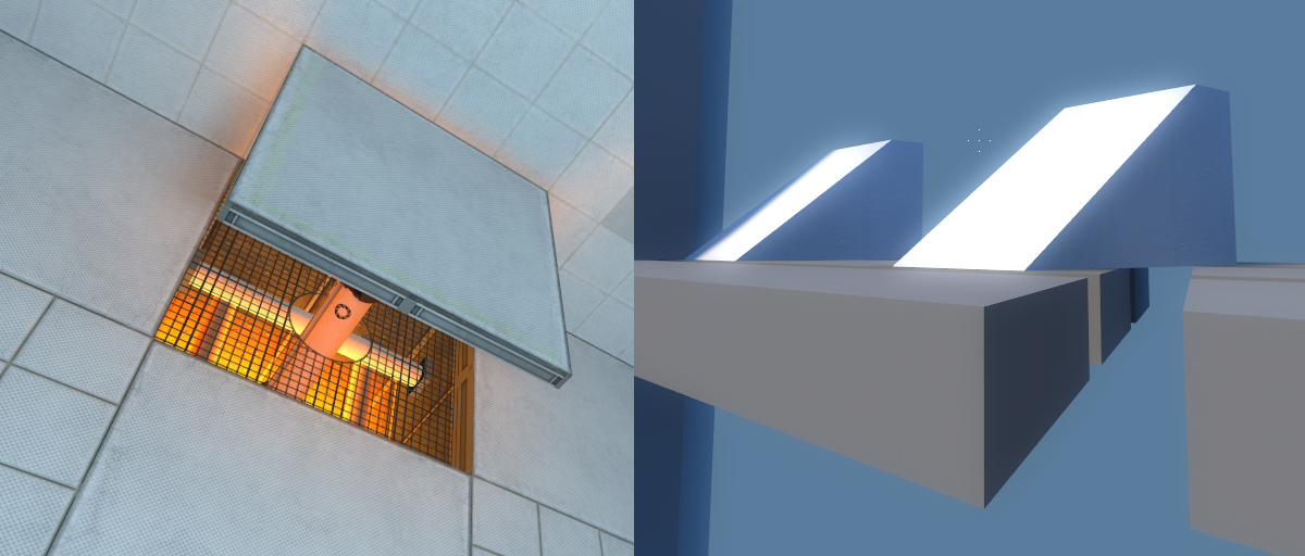 [left, Portal fling panels. right, Eidolon wedges]