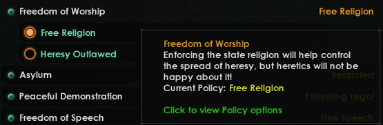 Heretic Policy