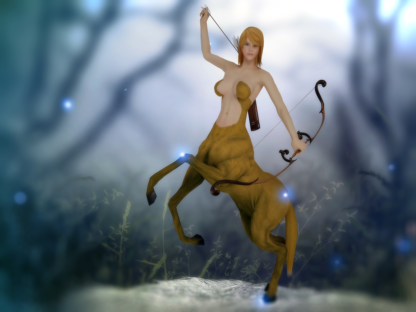 Free fantasy female centaur wallpapers nude model