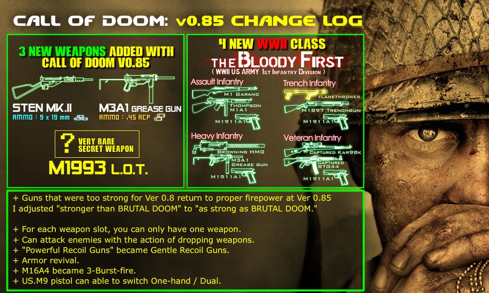 COD Manual0B CHANGELOG