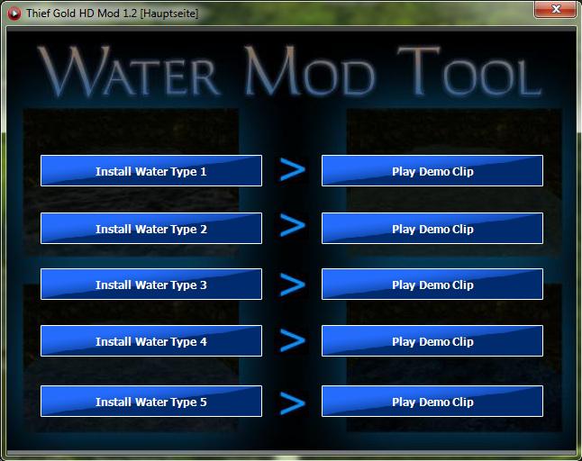 water mod tool