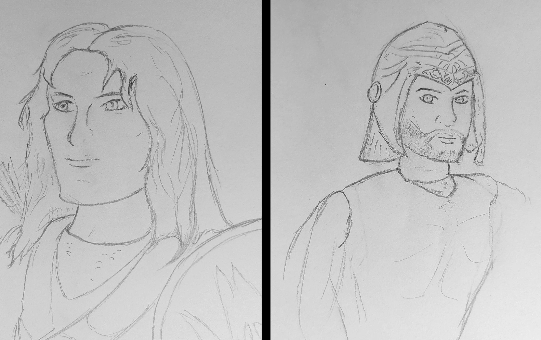 Concept art of Saelon and Borlas