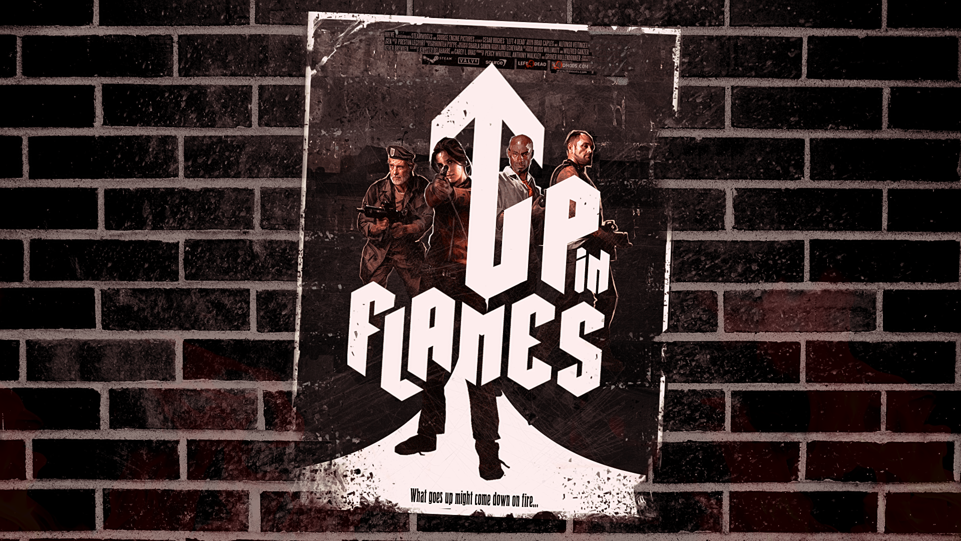 Up In Flames Poster 1