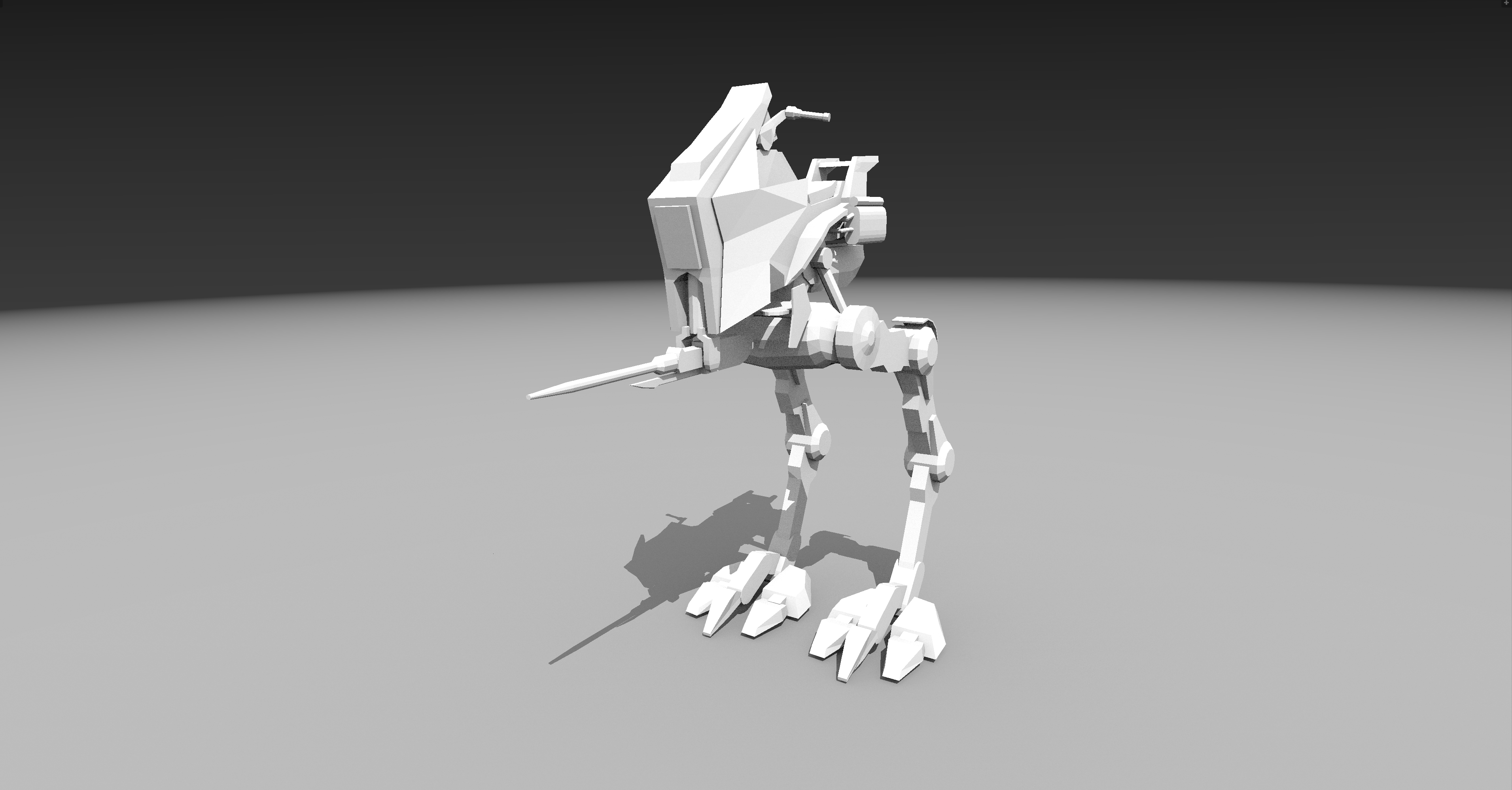 The AT-RT is a small recon walker, scavanged from the Clone Wars.