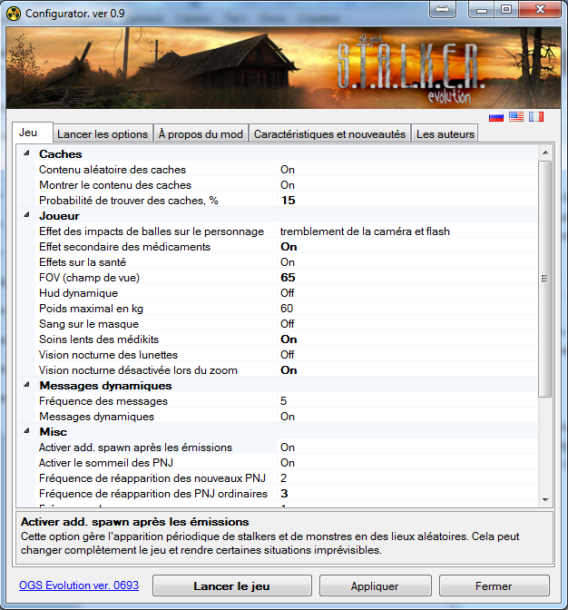 Configurator in french