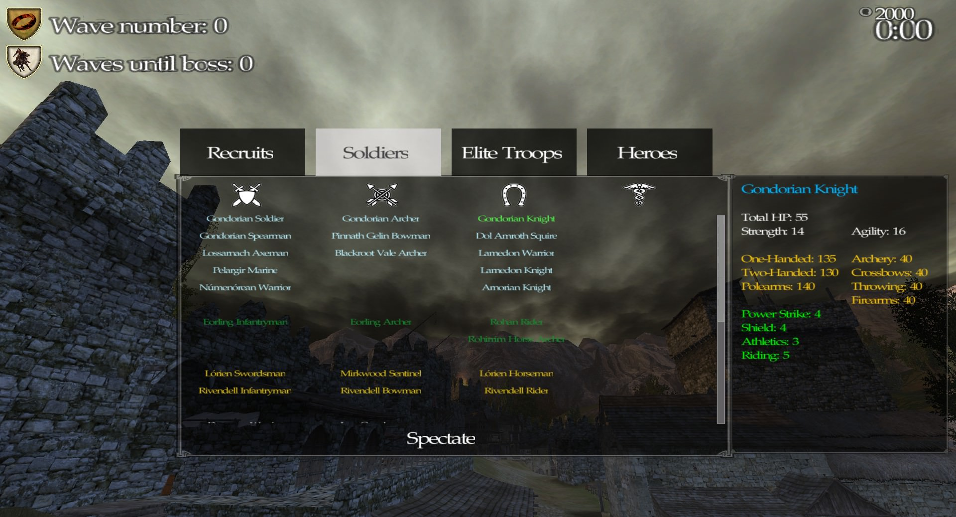 New class selection UI in Full Invasion