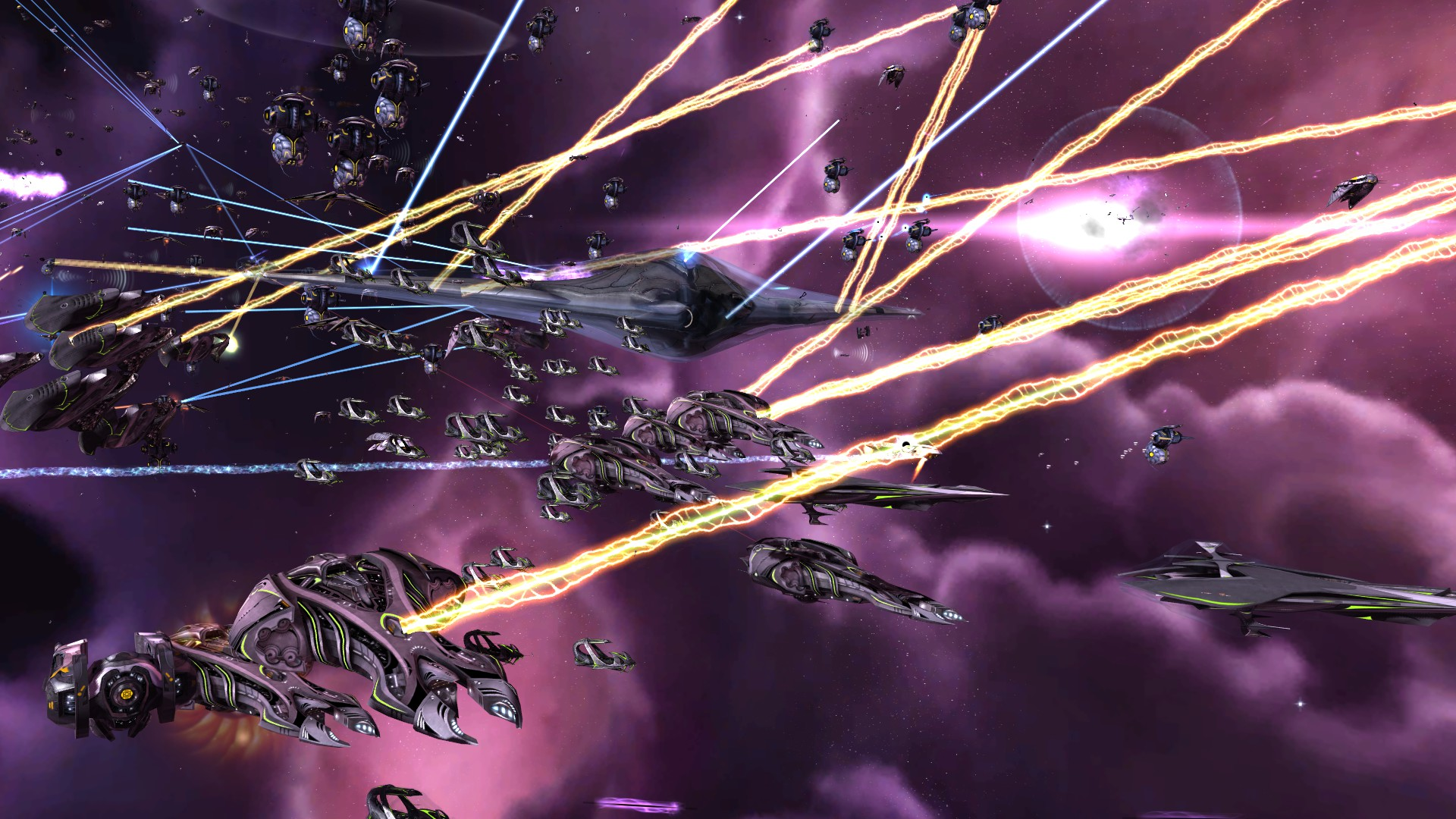 Vorastra Titan vs an Advent fleet in close combat