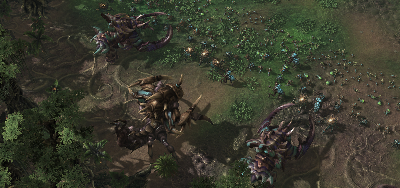 Zerg before battle